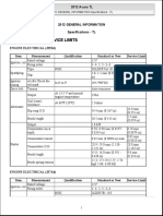 2012 General Information Specifications - Tl