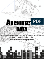 Arch Data Book 2015 Sri lanka Student compilation