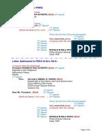 Annex a - Letter Format