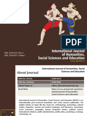 International Journal of Humanities, Social Sciences and