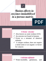 Diffusion effects in enzymes immobilized in a porous matrix