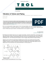 Vibration of Valves and Piping