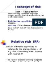 The Concept of Risk, Standard RF for CVD