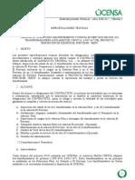 Anexo 1. Especificaciones Tecnicas