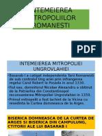 Intemeierea Mitropoliilor Romanesti