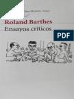 Barthes, Roland. Ensayos Criticos