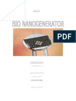 Report on Bio Nano Generators