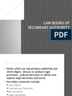 Law Books of Secondary Authority