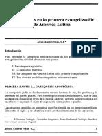 Catequesis en La Primera Evangelizacion Latina Juan Andres Vela