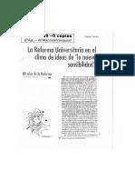 TERÁN - La Reforma Universitaria en El Clima de Ideas de La Nueva Sensibilidad