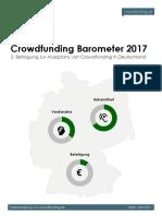 Crowdfunding Barometer 2017 - Crowdfunding.de