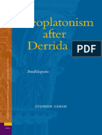 (Ancient Mediterranean and medieval texts and contexts, Studies in Platonism, Neoplatonism, and the Platonic tradition 3) Gersh, S.E.-Neoplatonism after Derrida_ parallelograms-Brill (2006).pdf