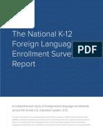 National K-12 Foreign Language Enrollment Survey Report