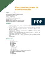 Impurificación Controlada de Semicondurctores