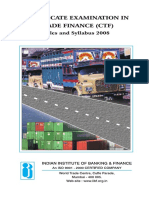 IIBF Certificate Examination in Trade Finance Details 1