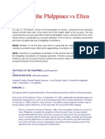 People of the Philppines vs Efren Mendoza