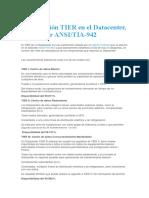 Clasificación TIER en El Datacenter