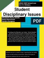 student disciplinary issuesppt