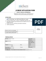 Application Form Nielsen