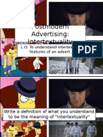 L14 Postmodern Adverts Intertextuality - Prezi