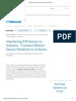Interface PIR Sensor to Arduino - Motion Sensor_Detector