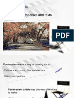 x127331900 Postmodernism Theories Theorists and Texts Ppt[1](1)