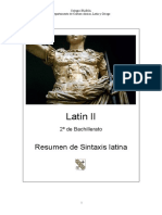 Resumen de Sintaxis Latina