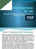 Decreto Supremo Nº 40