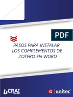 Pasos Zotero Word