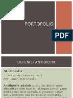 portofolio antibiotik