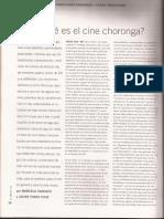 Revista El Amante - Cine Choronga - Panozzo, Porta Fouz