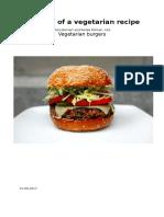 analysis of a vegetarian recipe