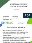 7.41.GEOELEC WP5 Session VI 11 1230 Mechanical Equipment and Operation and Maintenance Potsdam v2PEnoSoultz