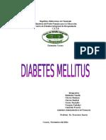 Trabajo de Diabetes Mellitus