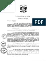 Resolucion Directorial n 28 2017 Uefsa de Reglamento
