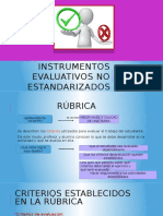 Instrumentos Evaluativos No Estandarizados