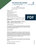 Certificado de Profesionalidad de Asistencia a La Edición