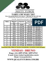Tabela de Tubos MAIO 2017