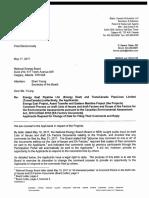 TransCanada letter to NEB