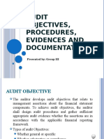 Audit Objectives Procedures Evidences and Documentation (1)