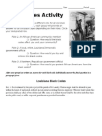 black codes activity