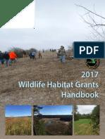 2017 Wildlife Habitat Grant Program Handbook