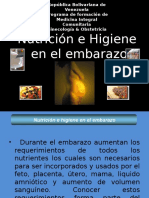 Higiene y Nutricion en El Embarazo