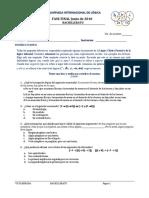 2010 - Examen Fase Final Bachillerato