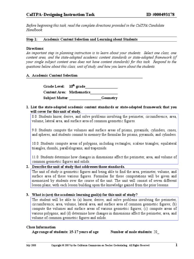 Tpa 2 Bryan Stone Lesson Plan Homework