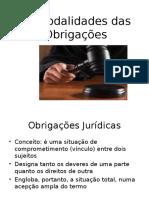 As Modalidades Das Obrigacoes
