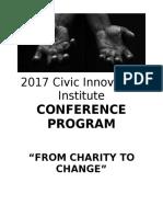 2017 civic innovation institute program