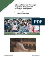 Chittagonian Bengalis 'Rohingya' by Khin Maung Saw
