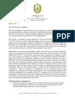 Mayor Letter to Potomac Street Neighbors