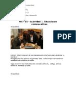 A07065142-MII – U1 – Actividad 1. Situaciones Comunicativas